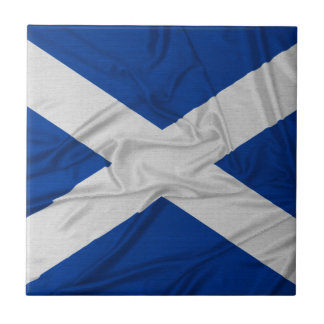 Wrinkled Scotland Flag Small Square Tile