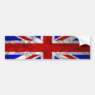 Wrinkled Union Jack Flag Bumper Sticker