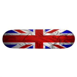 Wrinkled Union Jack Flag Skate Board Deck