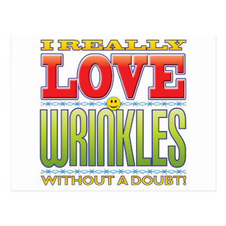 Wrinkles Love Face Postcard