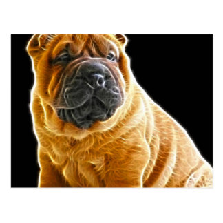 Wrinkles, The Chinese Shar Pei Puppy Dog Postcard