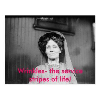 Wrinkles- the service stripes of life postcard