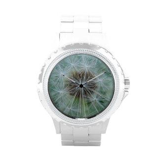 Wrist watch light grey dandelion stars