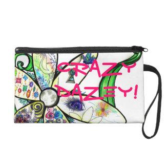 Wristlet Bagettes Bag CrAzY DaZeY! Daisy Graffiti