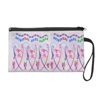 Wristlet PURSE easy HAPPY CARTOONS ART BOTH SIDES
