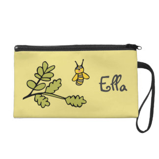 Wristlet with Bee and Personalised Name