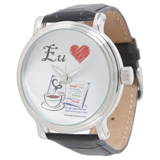Wristwatch 1 Love Coffee with Poetry