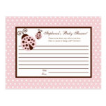 Writable Advice Card Pink Ladybug