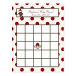 Writable Bingo Card Red Sock Monkey