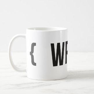 Write - Bracketed - Black and White Basic White Mug