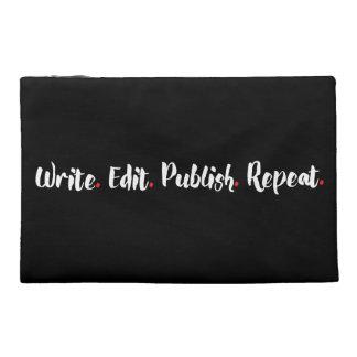 Write. Edit. Publish. Repeat. Travel Accessories Bag