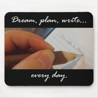 Write Every Day Mouse Pad, black
