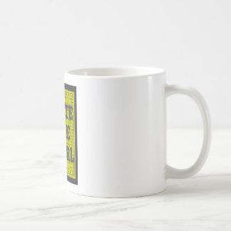 Write Like a Girl Charcoal Coffee Mug