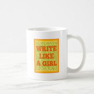 Write Like a Girl Citrus Coffee Mug
