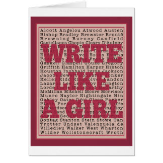 Write Like a Girl Lipstick Card