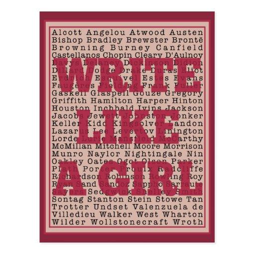 Write Like a Girl Lipstick Post Card