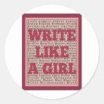 Write Like a Girl Lipstick Stickers