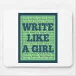 Write Like a Girl Peacock