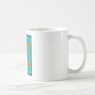 Write Like a Girl Teal Basic White Mug