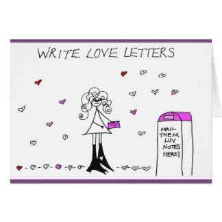 Write Love Letters Crazyhair Card