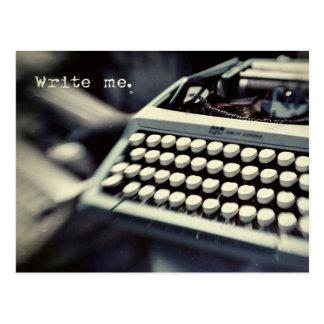 Write me, vintage Typewriter Postcard