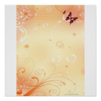 WRITE ON ME Butterflies and Bubbles Poster