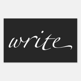 Write Rectangular Sticker