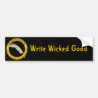 Write Wicked Good - Black Logo Bumper Sticker