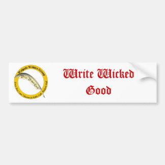 Write Wicked Good Bumper Sticker - White Car Bumper Sticker