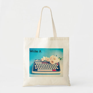Write your own life's story. budget tote bag
