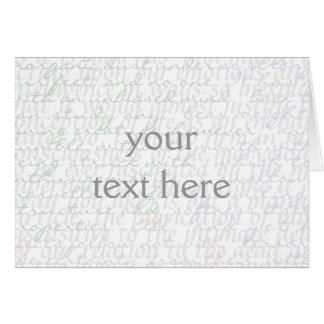Write Your Own (quote collage) Greeting Cards