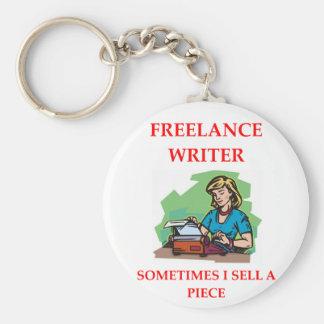 WRITER1.png Basic Round Button Key Ring
