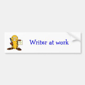 Writer at work bumper sticker