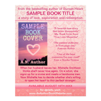 Writer Author Book Promotion Pink White Hearts 21.5 Cm X 28 Cm Flyer