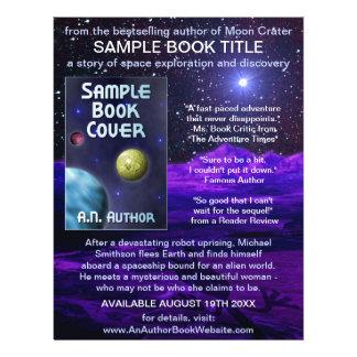 Writer Author Book Promotion Space Science-Fiction 21.5 Cm X 28 Cm Flyer