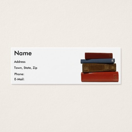 Writer Author Novelist Book Business Card