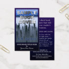 Writer Author Promotion Big Book Cover Dark Blue Business Card