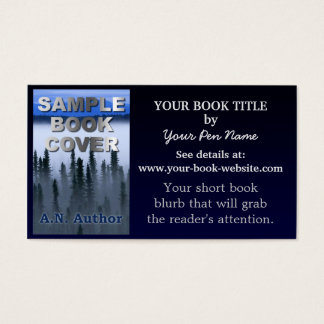 Writer Author Promotion Book Blue Gradient
