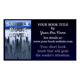 Writer Author Promotion Book Blue Gradient Business Cards