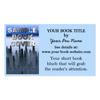 Writer Author Promotion Book Cover Pack Of Standard Business Cards