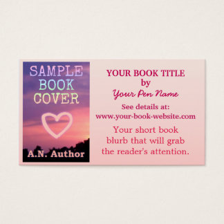 Writer Author Promotion Book Cover Pink White