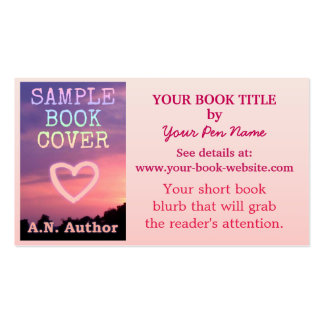 Writer Author Promotion Book Cover Pink White Pack Of Standard Business Cards