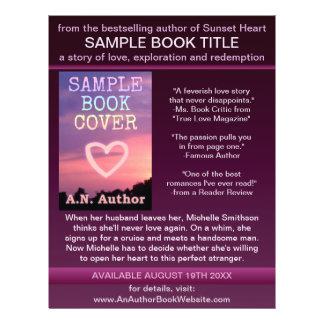 Writer Author Promotion Book Cover Purple Black 21.5 Cm X 28 Cm Flyer