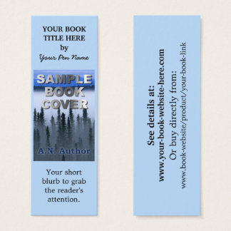 Writer Author Promotion Book Cover Small Bookmark Mini Business Card