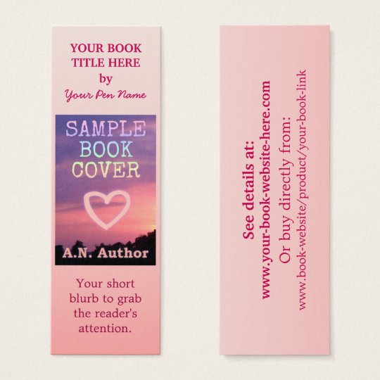 Writer author promotion book cover small pink mini business card writer author promotion book cover small pink mini business card reheart Image collections