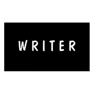 Writer | Author | Text Pack Of Standard Business Cards