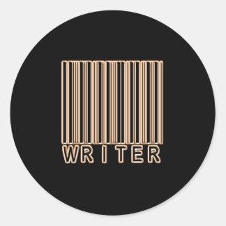 Writer Barcode Round Sticker