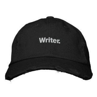 """Writer"" Baseball Hat Embroidered Baseball Cap"