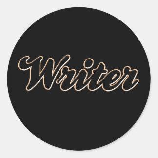 Writer Baseball Style Sticker