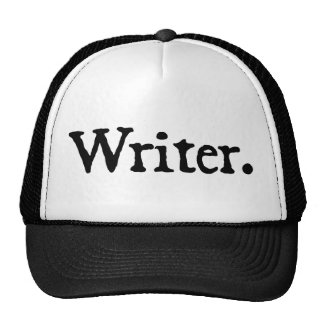 Writer (black lettering) trucker hats